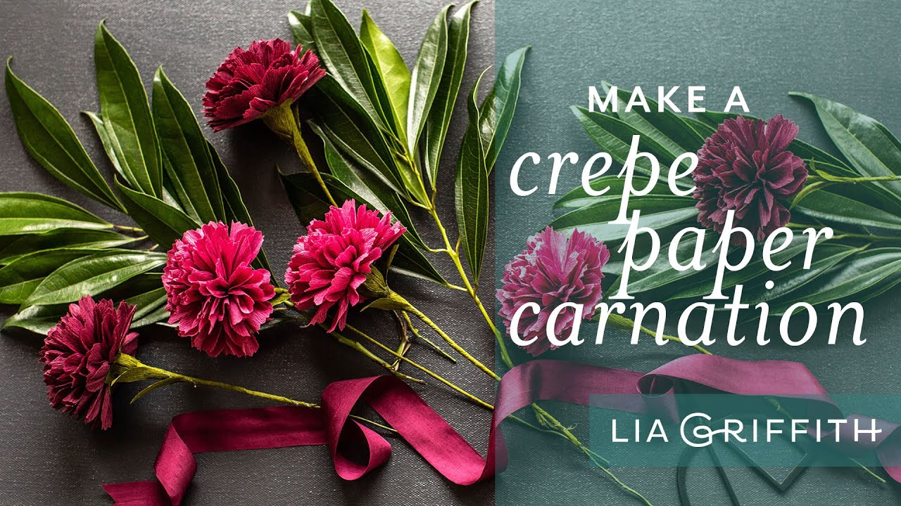 January Member Make: Crepe Paper Carnations