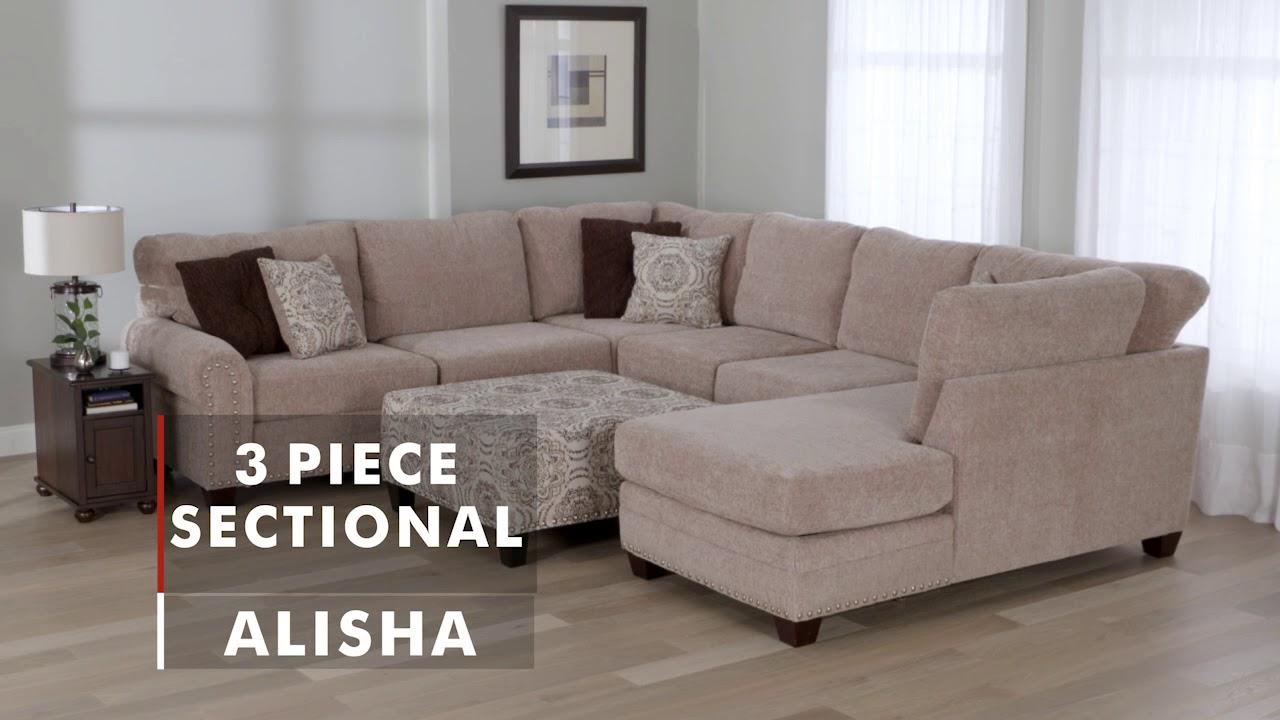 Product Spotlight Alisha Sectional Wg R Furniture Youtube