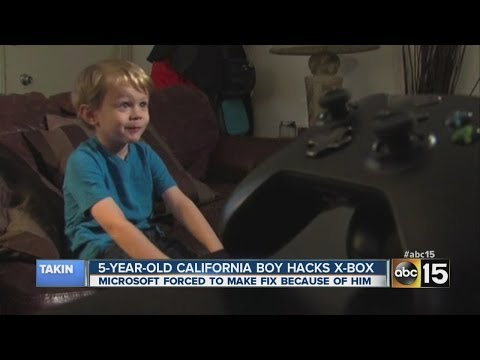 5-year-old boy hacks Xbox