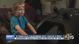 5-year-old boy hacks Xbox