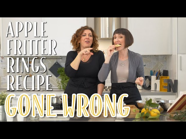 Apple Fritters Rings Recipe Gone Wrong - Foodie Sisters in Italy