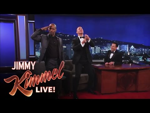 Channing Tatum and Jamie Foxx on Jimmy Kimmel Live: After the Oscars PART 2