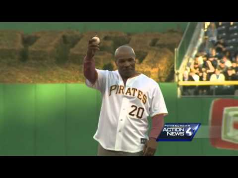 Mike Tyson throws out first pitch at PNC Park