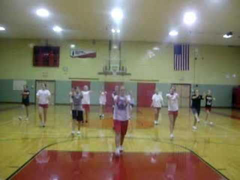 East Alton Middle School Cheerleaders Floor Cheer!