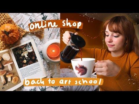Studio Vlog 13 🎨 // Opening ONLINE SHOP, Zine Making. Back To ART SCHOOL!
