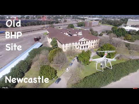 Aerial Drone View Of The Old BHP Site In Newcastle NSW Australia With Dji Phantom 4 Road Trip 12