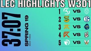 LEC Highlights ALL GAMES Week 3 Day 1 Spring 2019 League of Legends European Championship