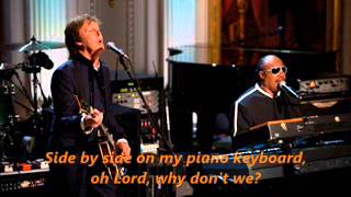 Ebony and Ivory - Paul McCartney & Stevie Wonder. (HQ Audio - Radio Rec.)