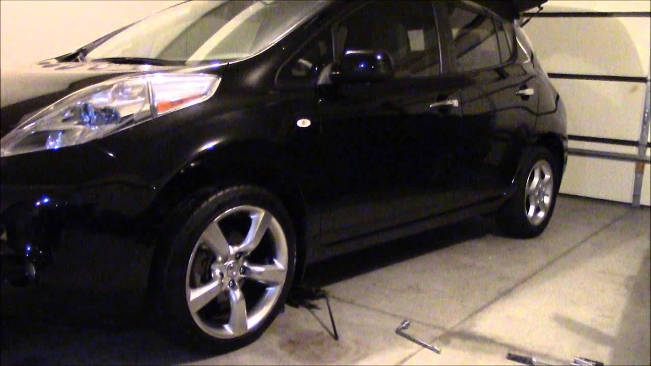 Nissan Tires Nissan Leaf with 350z staggered wheels and tires! - YouTube