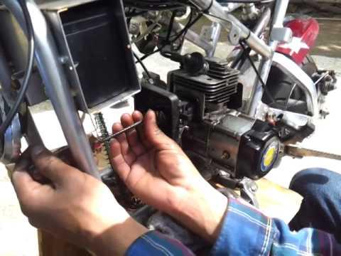 49cc cat eye pocket bike repair  YouTube