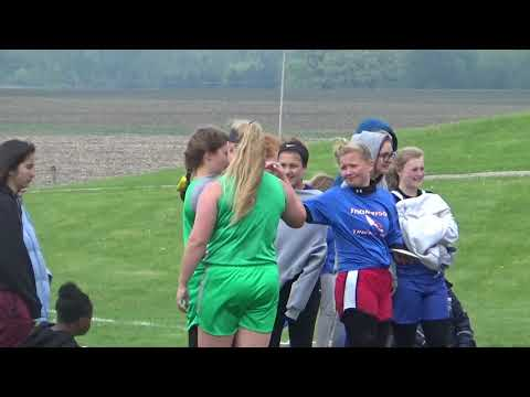 Geneseo Middle School Sectional 8th Grade Discus DeJohn Qualifies May 12 2018