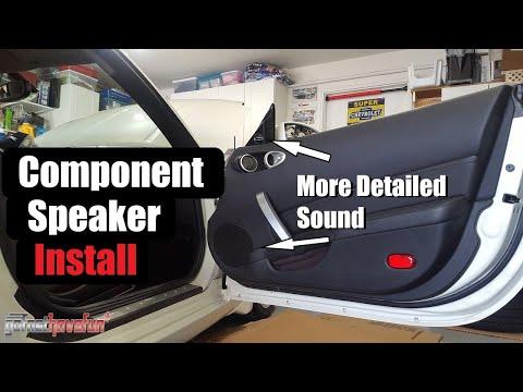 Nissan 350Z Component Speaker Install (Door panel removal)