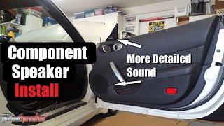 Nissan 350Z Component Speaker Install (Door panel removal) | AnthonyJ350