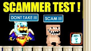 SCAMMER TEST !!! ( SUPRISED ) | Growtopia