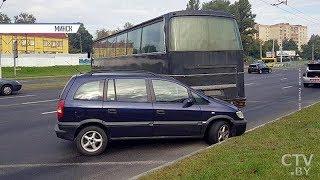 Автобус и два легковых автомобиля столкнулись в Минске