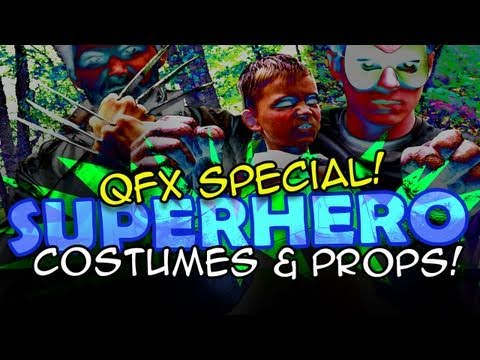 Homemade Movie Superhero Costume and Props DIY - QUICK FX