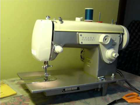 NIFTYTHRIFTYGIRL Vintage Kenmore Model 40 LILAC PURPLE CREAM Delectable Kenmore 28 Sewing Machine