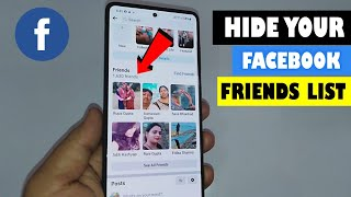 How to Hide Facebook Friends List  (Easy) On Mobile (Android or iPhone)