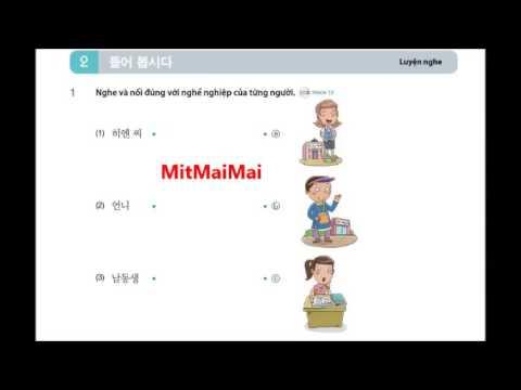 Tiếng Hàn Sơ Cấp 1 Bài 10 Gia Đình Luyện Nghe