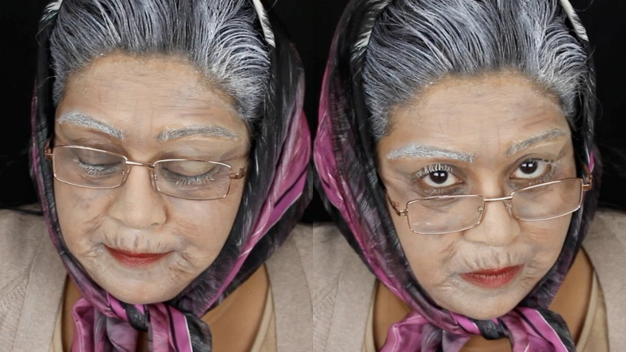 Old Age Old Lady Halloween Makeup Tutorial  Nishi V