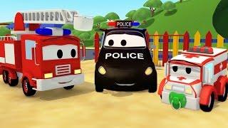Devriye Aracı itfaiye kamyonu ve polis arabası ve Baloncuklu Kayboluş  çocuklar için çizgi film