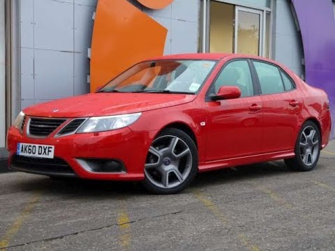 Review Our 2010 Saab 9 3 Aero 19TTiD Red Saloon For Sale In Hampshire