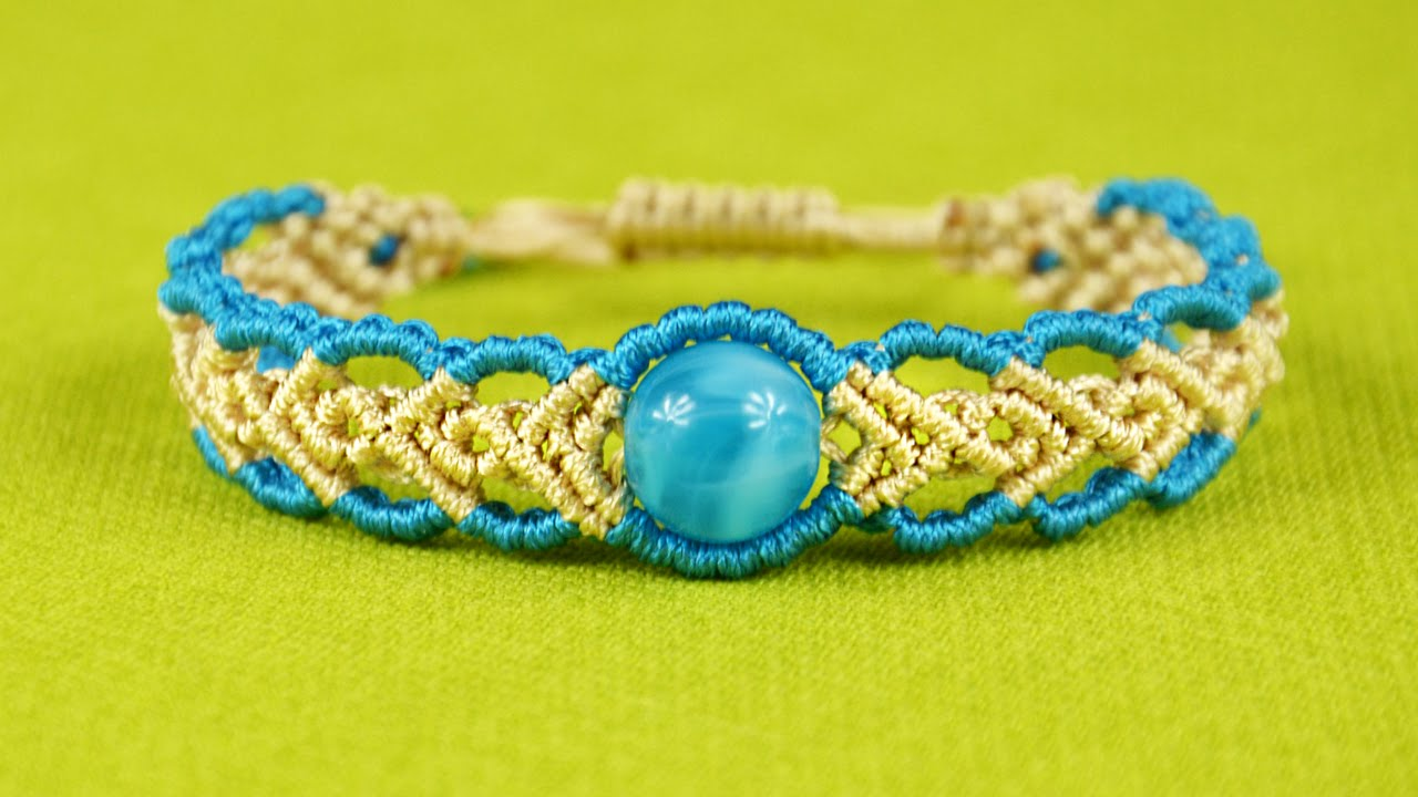 Wavy Herringbone Bracelet In Two Colors With A Bead Tutorial
