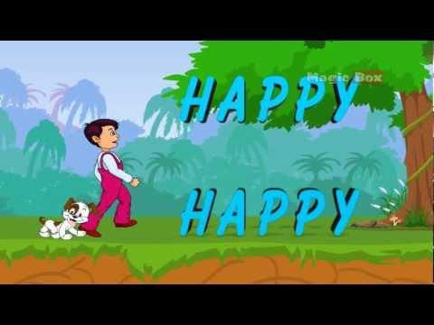 I  Am Happy - English Nursery Rhymes - Cartoon/Animated Rhymes For Kids