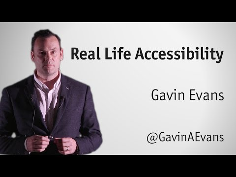 """""""Real life accessibility"""" by Gavin Evans"""