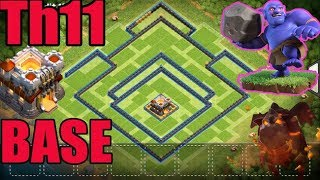 NEW TH11 LEGEND TROPHY BASE 2017 COC (NEW SEASON START) | CLASH OF CLANS