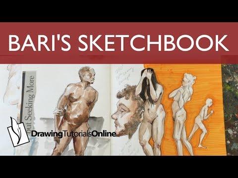 Bari's Sketchbook - How To Use Watercolor In A Sketchbook