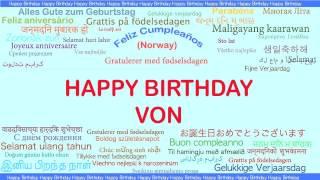 Von   Languages Idiomas - Happy Birthday