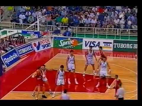 1995 Eurobasket 3rd Place final greece-croatia