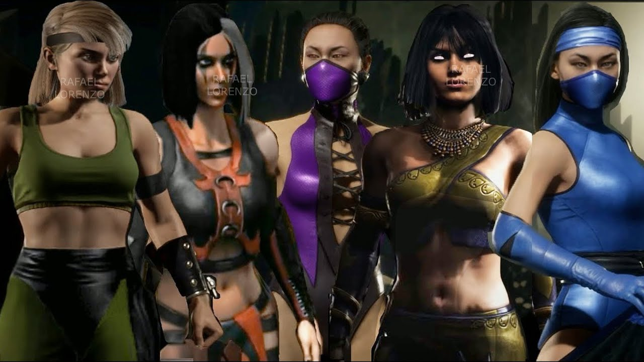 MORTAL KOMBAT ALL GIRLS - MILEENA KITANA JADE SKARLET TANYA FROST SAREENA Evolution Skins MK1 - MK11