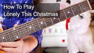 'Lonely This Christmas' Mud Acoustic Guitar Lesson
