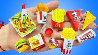 15 DIY MINIATURE FOOD REALISTIC HACKS AND CRAFTS ~McDONALD's,KFC,FAST FOOD