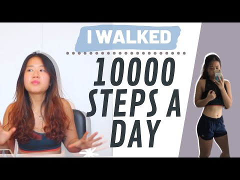 WALKING 10000 STEPS A DAY FOR A MONTH to lose weight | Results, Weight Loss (It WORKED but...)