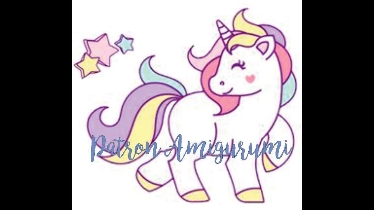 Patrón amigurumi unicornio | CrochetyAmigurumis.com | 720x1280