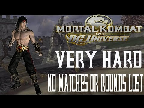 Mortal Kombat Vs DC Universe - Liu Kang - Very Hard - No Rounds Or Matches Lost (Commentary)