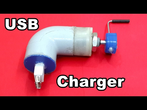 How to Make a DC Motor Powered USB Mobile Charger at Home
