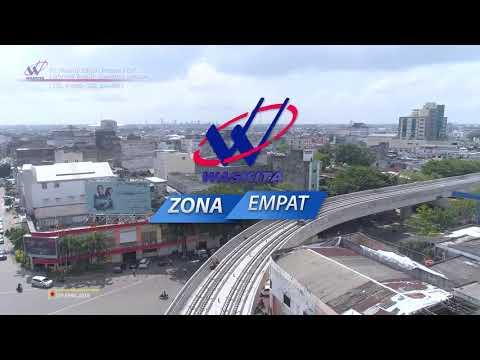 Aerial View - Progress Kereta Api Ringan (LRT) Sumatera Selatan per April 2018