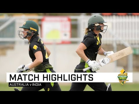 Perry Good Show Steers Australia Past India In Canberra | CommBank T20 INTL Tri-Series
