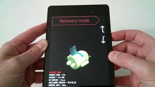 Nexus 7 Hard Factory Reset Fastboot Bootloader Recovery Mode