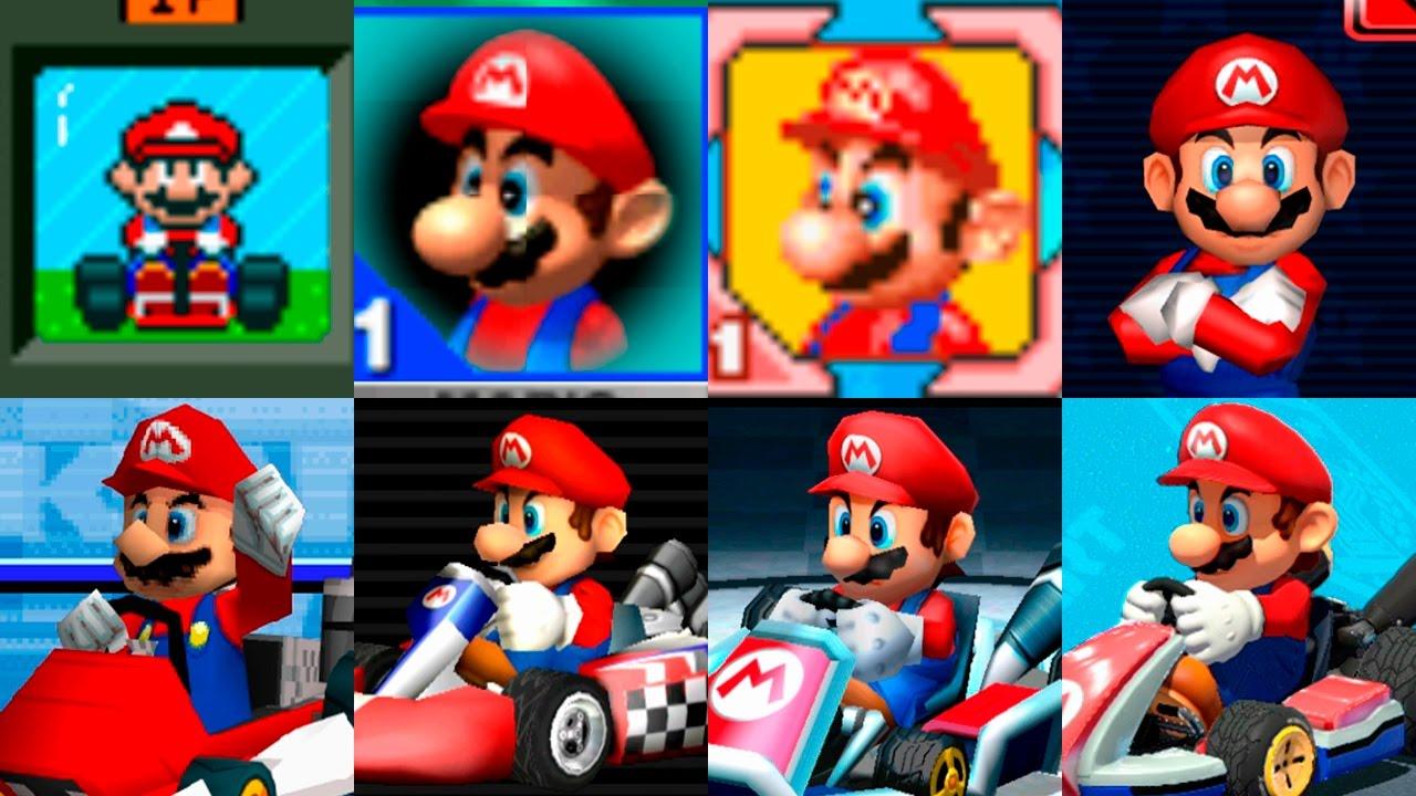 Mario Kart Saga Characters | Mario Evolution | Evolución ...