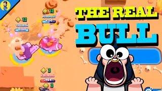 EL VERDADERO BULL (that is a real bull) - Reaccionando a FUNNY MOMENTS de BRAWL STARS