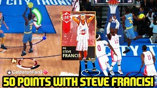 50 POINT GAME WITH RUBY STEVE FRANCIS! DUNKS ON EVERYONE! NBA 2K18 MYTEAM GAMEPLAY