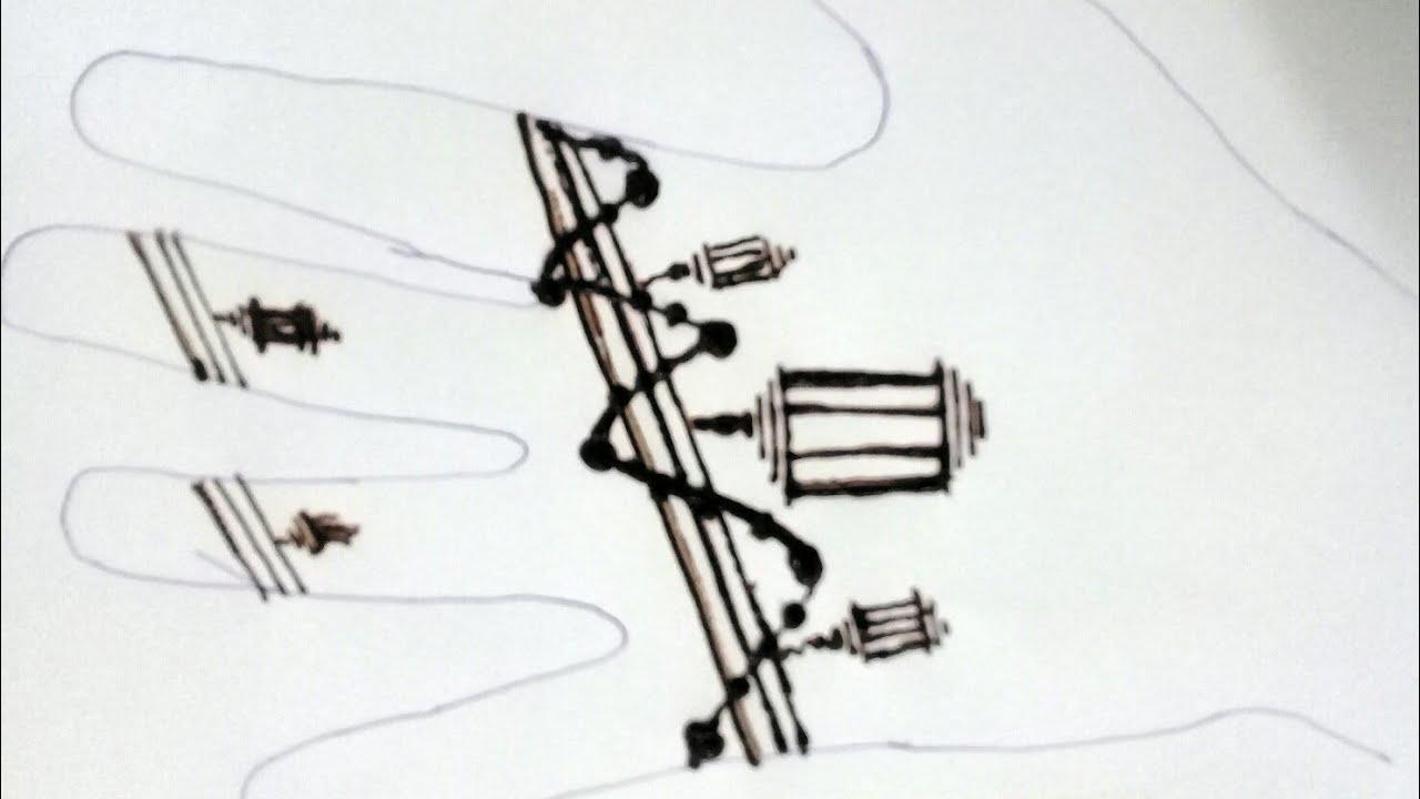 نقش حناء على شكل فانوس بمناسبة رمضان 4 Henna For Ramadan Youtube