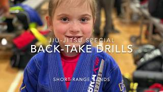 "Jiu-Jitsu Partner-workouts with Resistance Bands -""Back-Take"" drills-BJJ exercises for kids & adults"