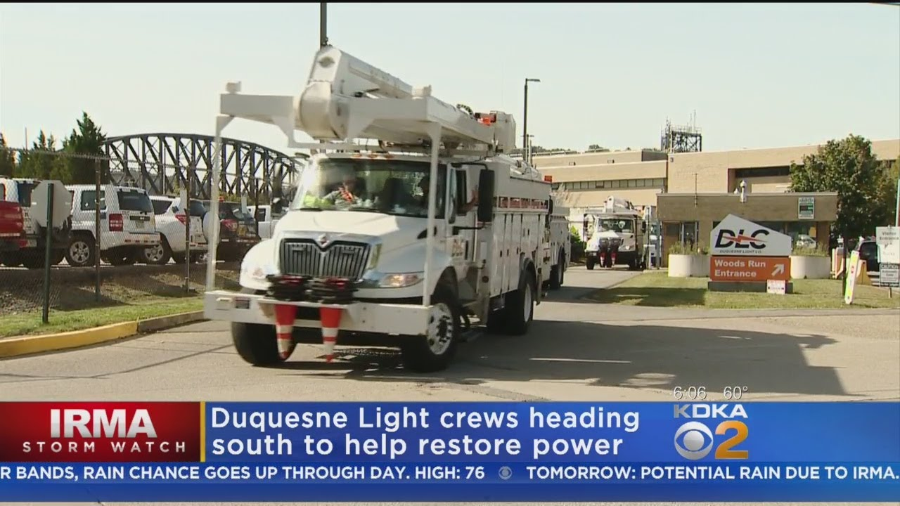 Additional Duquesne Light Crews Head South To Help Restore Power