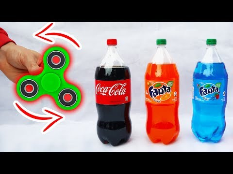FIDGET SPINNER VS SODA!!